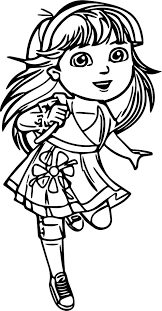 dora coloring pages christmas coloringstar