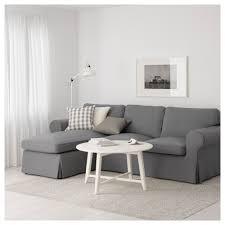 Ikea Sofa Chaise Lounge Ektorp Sofa With Chaise Nordvalla Light Blue Ikea