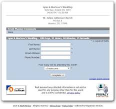 wedding rsvp websites websites for wedding guests to rsvp