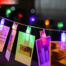 christmas garland battery operated led lights 1 2m 10leds holiday lights photo frame led light string multicolor
