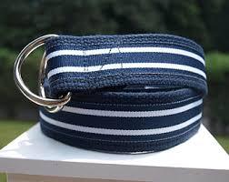 navy blue and white striped ribbon mens ribbon belt etsy