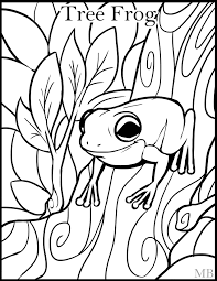 coloring pages animals frog coloring page for kids picture ewkn