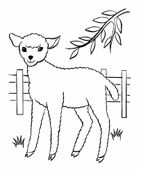 bluebonkers free printable easter lamb coloring page sheets 6