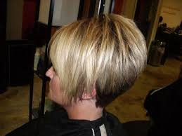 front and back views of chopped hair stacked bob hairstyles back view style them fabulous high