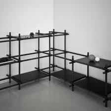 stick modular shelving system by menu black dark ash