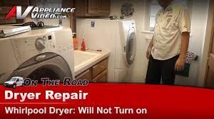 dryer repair will not start whirlpool maytag kitchenaid sears