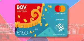 bank prepaid cards bov mastercard prepaid cards bank of valletta bov