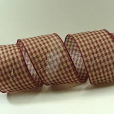 checkered ribbon 2 5 inch inch burgundy and gingham ribbon with burgundy wired