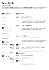a resume template 20 resume templates create your resume in 5 minutes