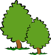 clipart small trees bushes