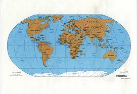 clear world map with country names world maps perry castañeda map collection ut library