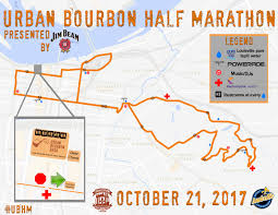 Race Map Course Urban Bourbon Half Marathon Presented By Jim Beam