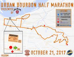 Map My Run Create Route by Course Urban Bourbon Half Marathon Presented By Jim Beam