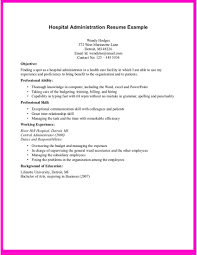 hospital resume exles exle for hospital administration resume exle for hospital