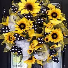 sunflower wreath shop deco mesh sunflower wreath on wanelo
