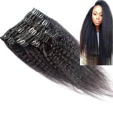 clip in human hair extensions yaki clip in human hair