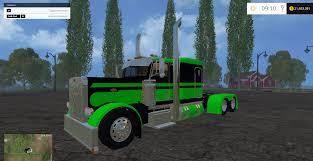 flat top kenworth trucks for sale peterbilt green flattop fs 2015 farming simulator 2015 15 mod