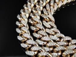 mens solid gold necklace images Mens solid yellow gold miami cuban genuine 12 mm diamond chain jpg