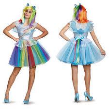Rainbow Dash Halloween Costume Disguise Womens Deluxe Rainbow Dash Pony Costume