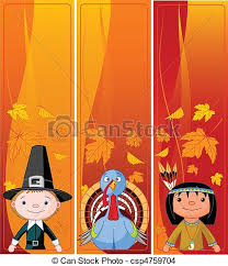 eps vector of vertical thanksgiving banners three