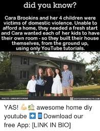 Domestic Violence Meme - did you know cara brookins and her 4 children were victims of
