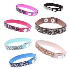 leather rhinestone bracelet images 2017 new fashion leather wrap wristband cuff punk crystal jpg