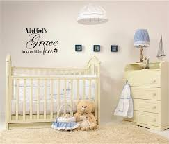 Bedroom Wall Decor Sayings Amazon Com All Of God U0027s Grace In One Little Face Cute Decorations