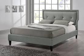 Baxton Studio Bed Amazon Com Baxton Studio Marquesa Grey Fabric Upholstered
