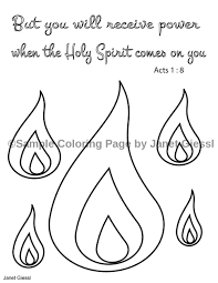 pentecost coloring pages set of 4 koloring scriptures