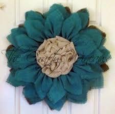 burlap sunflower wreath jade blue burlap sunflower wreath the crafty wineaux