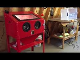 Harbor Freight Sandblast Cabinet Modifications Harbor Freight Sandblast Cabinet Upgrades U0026 Review Youtube