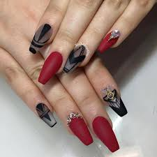 21 black and red nail art designs ideas design trends
