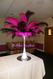 ostrich feather centerpieces ostrich feather centerpiece hire balloon kingdom