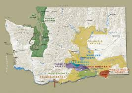 Map Of Washington State by Wine Trail Touring And Tasting In Washington State