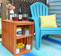 diy wooden crate outdoor table one artsy mama