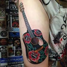 acoustic guitar tattoos tattoo collections