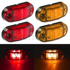 led side marker lights for trucks partsam 2 amber 2 red 2 5 2 diode oval led trailer truck clearance