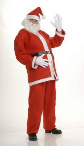 santa costume plush regal santa suit one size walmart
