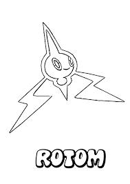 rotom pokemon coloring page more eletric pokemon coloring sheets