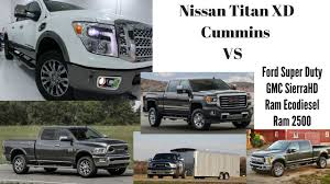 nissan titan cummins towing capacity 2016 nissan titan xd vs ram 2500 ford super duty gmc 2500hd