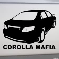 toyota na decal toyota corolla mafia buy vinyl decals for car or interior