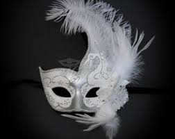 black and white mardi gras masks feather mask etsy