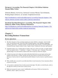 horngren u0027s accounting the financial chapters 11th edition