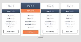 responsive pricing table free theme web pinterest pricing