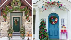front porch christmas decorations front door decorating ideas