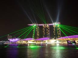 Bay Bridge Light Show Free Photo Singapore Hotels Marina Bay Sands Free Image On
