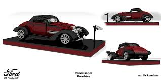 custom lego mini cooper custom ford 1933 v8 renaissance roadster lego lego ideas and