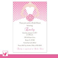 Wedding Invitation Card Messages Bridal Shower Invitations U2013 Pink The Cat
