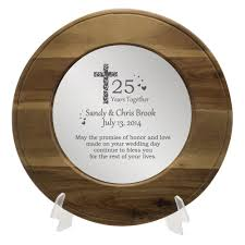 25th anniversary plates personalized and personalized 25th anniversary plate