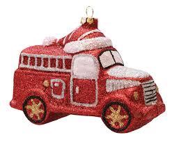 glitter truck 4 75 merry u0026 bright red silver and white glitter shatterproof